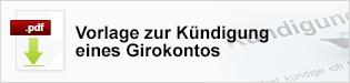 Vorlage Girokonto kündigen - Teaser