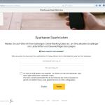 Login Onlinebanking des bestehenden Kontos