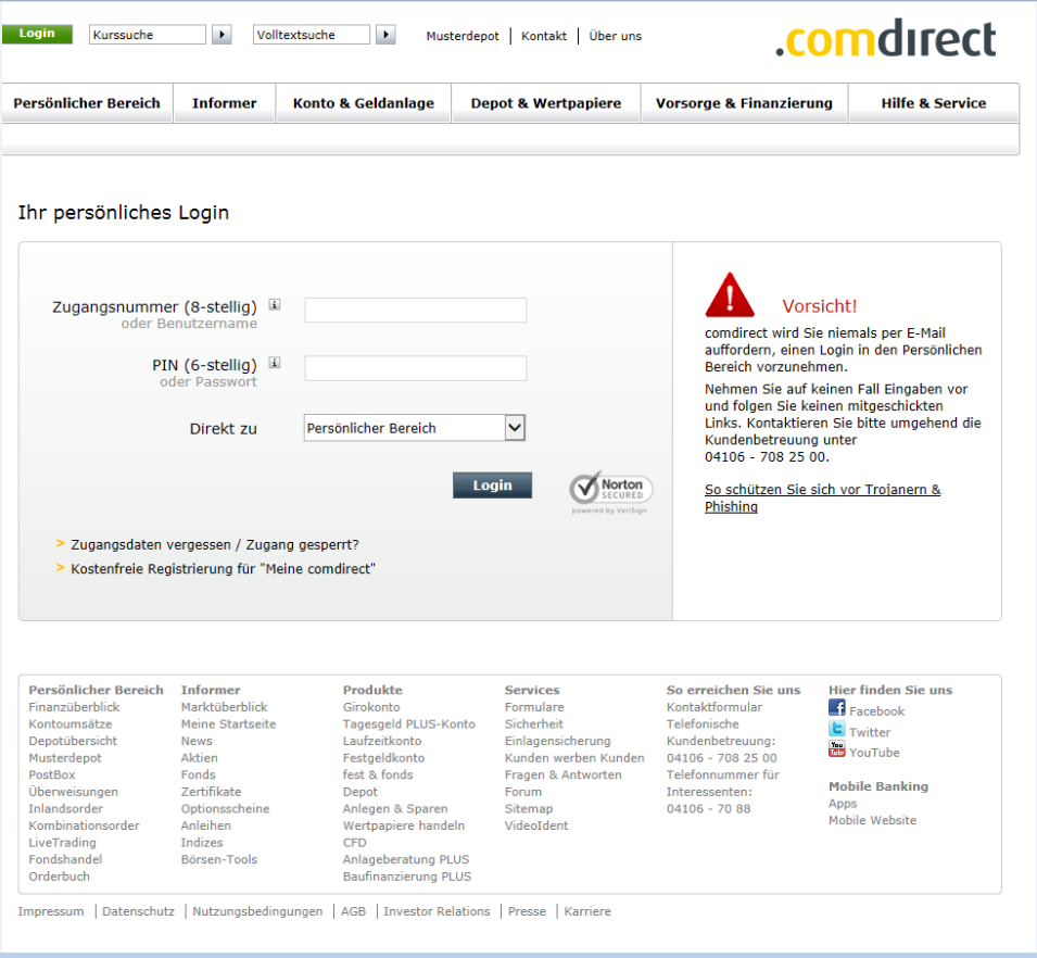 info comdirect