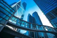 Skyline verschiedener Bankenhäuser, Beispiel Frankfurt
