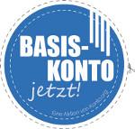 Blauer Button mit Aufschrift Basiskonto