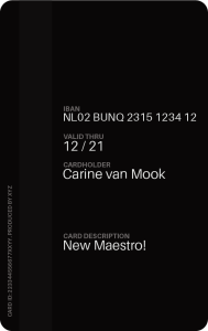 bunq Maestro Karte Rückseite