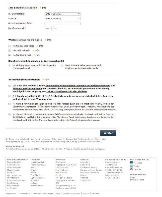 Das comdirect Girokonto - Konditionen und Gebühren im Test