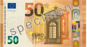 50 Euro Banknote Vorderansicht