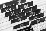Buchstabenregister von Stammdaten