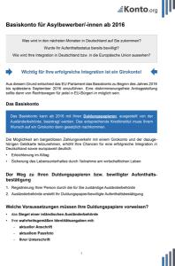 Merkblatt Basiskonto Asylbewerber deutsch
