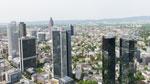 Blick auf Bankenpanorama Frankfurt